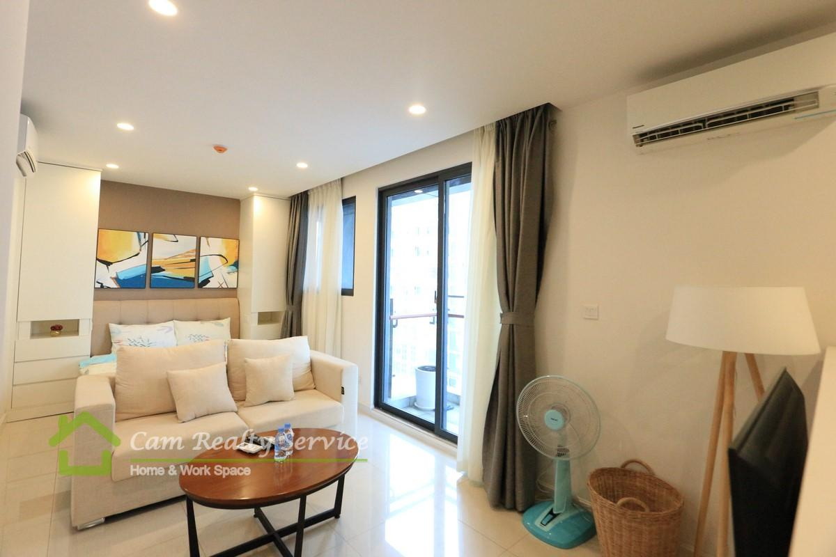 BKK1 area| Modern style studio serviced apartment for rent| 500$/month up| Pool & Gym