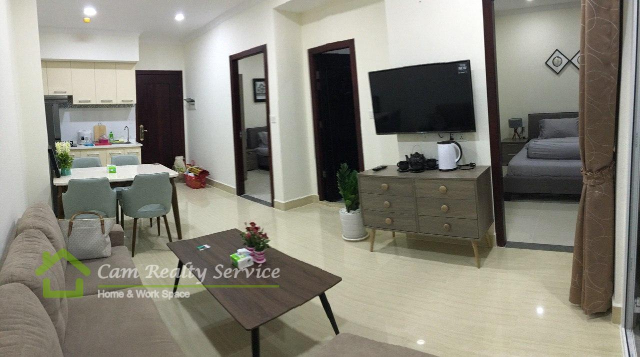 BKK2 area  Modern style brand new condominium 2 bedroom 2 bathroom for sale 125000$