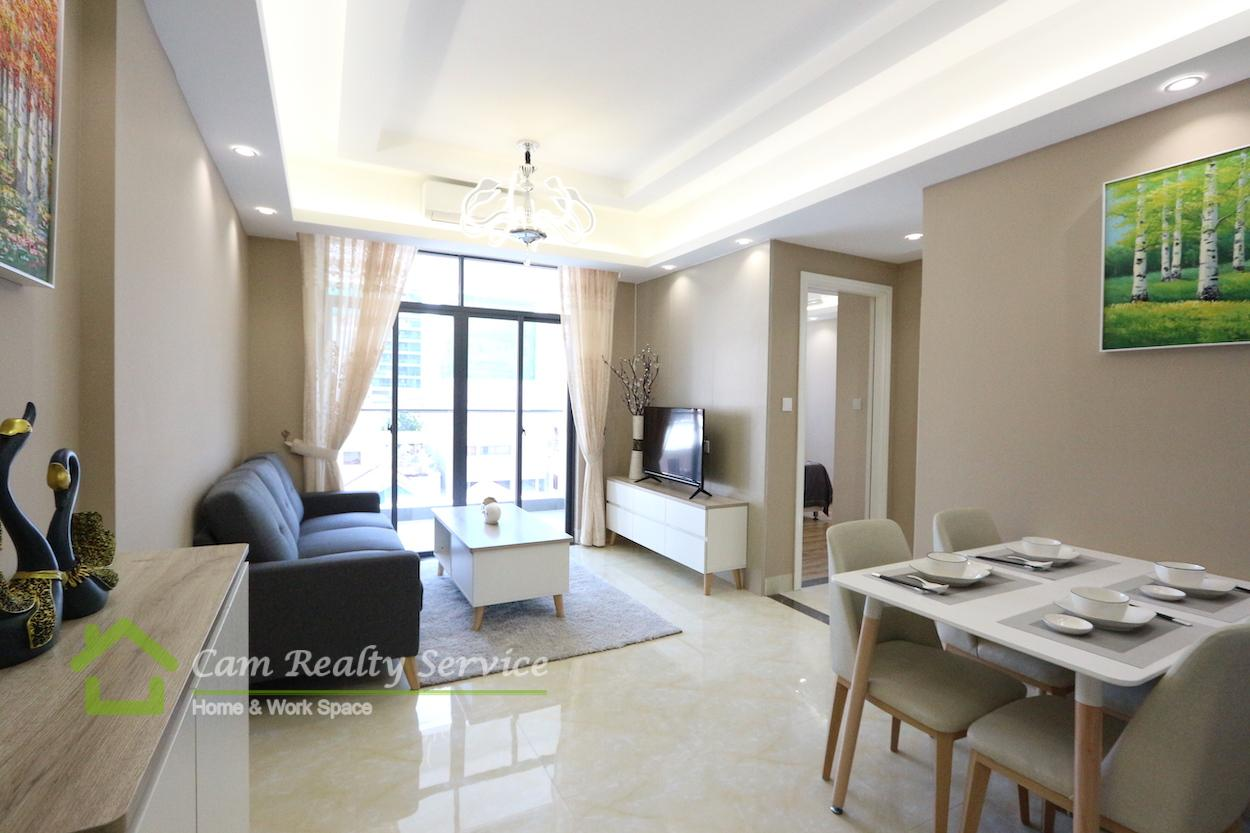 BKK1 area| Under construction new modern style 2 bedrooms 1 bathroom condominium for sale 177,710$( This price is fully furnished)