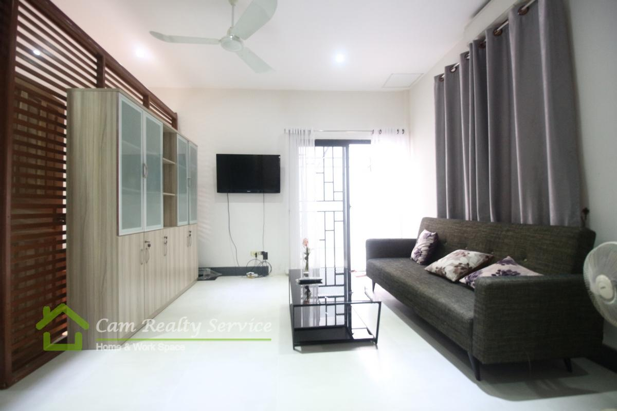 Wat Phnom Area| Modern style|1 bedroom 1 bathroom available for rent 600$/month( motor parkig)