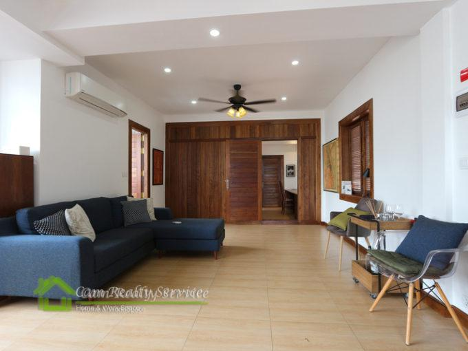 Russian Market Area   Penthouse Apartments for rent in Phnom Penh   Spacious private terrace